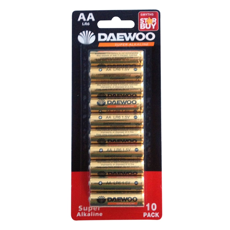 Daewoo AA Alkaline 10 Pack Batteries