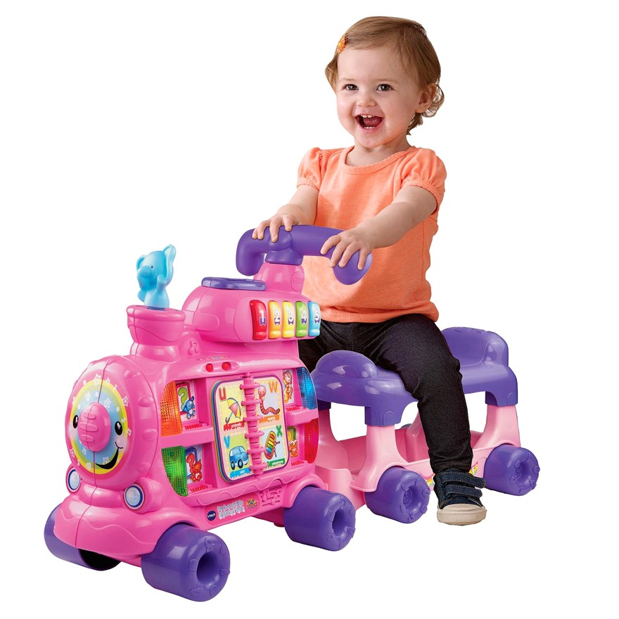 VTech Push and Ride Alphabet Train Pink image-0