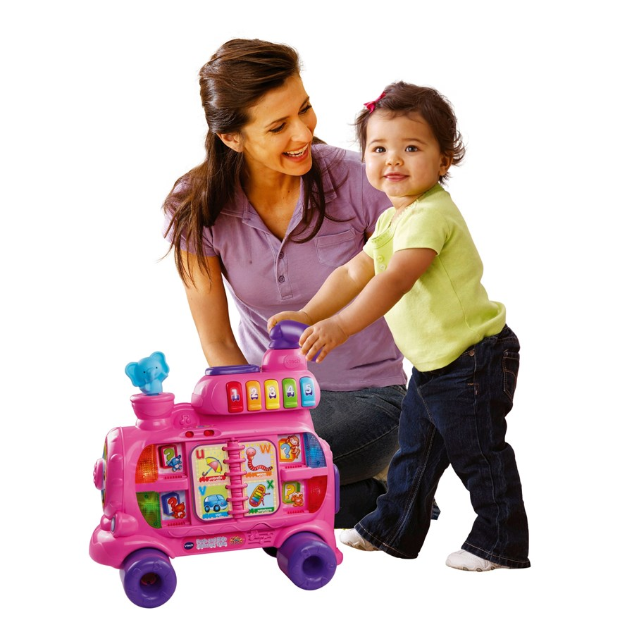 VTech Push and Ride Alphabet Train Pink image-1