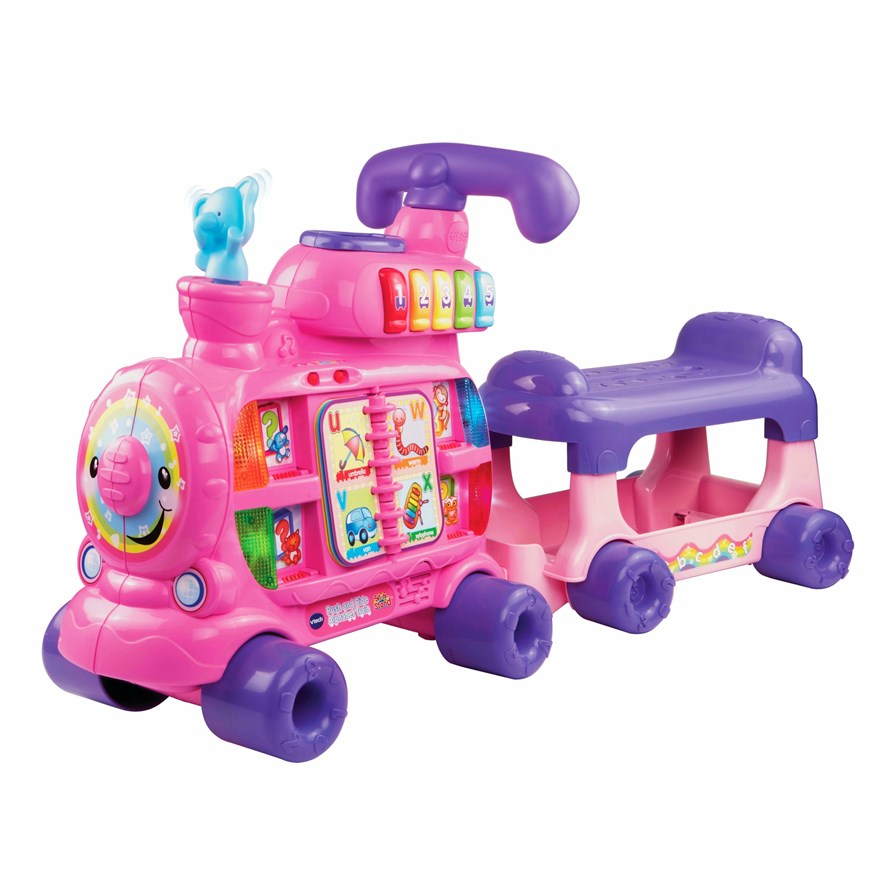 VTech Push and Ride Alphabet Train Pink image-2