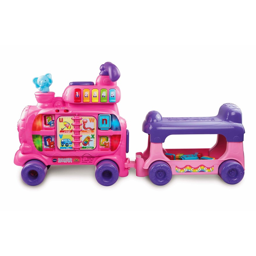 VTech Push and Ride Alphabet Train Pink image-3