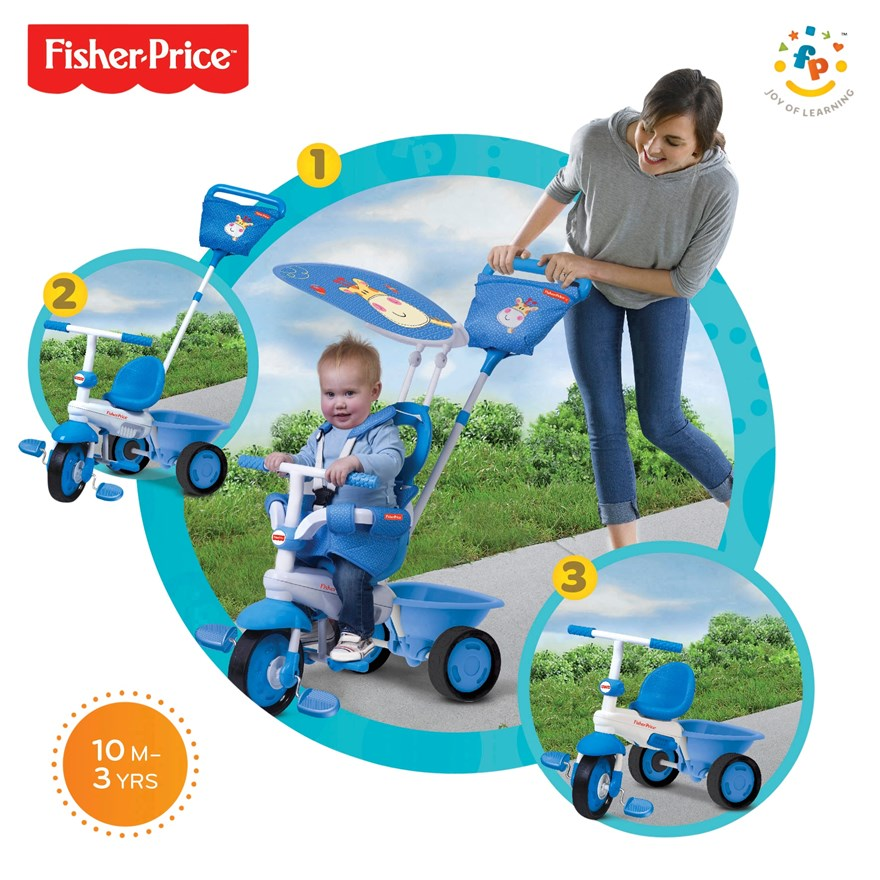Fisher-Price Elite 3 in 1 Blue Trike image-0