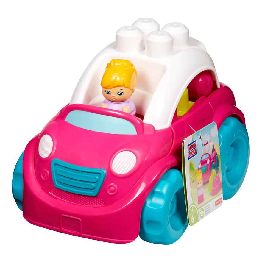 Mega Bloks First Builders Lil Vehicles Catie Convertible image-0