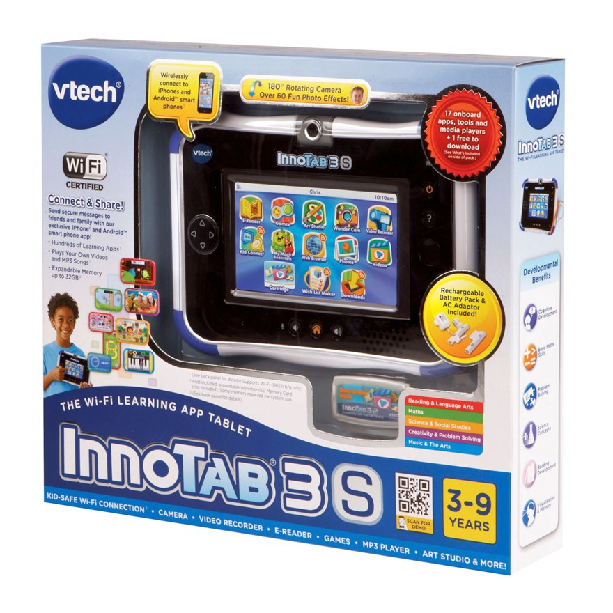 VTech InnoTab 3S Blue with Battery Pack image-4