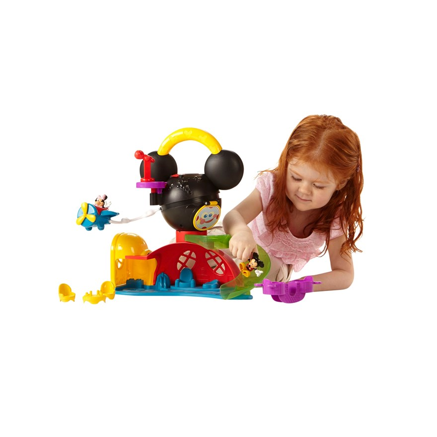Disney Mickey Mouse Fly n' Slide Clubhouse image-0