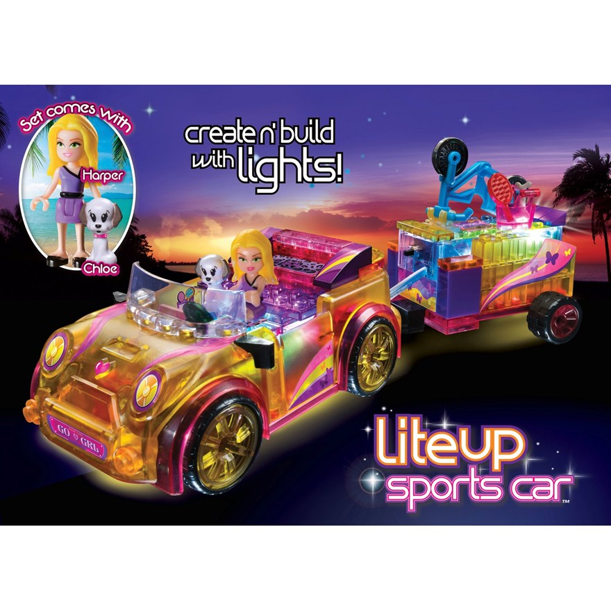 Lite Brix Lite Up Sports Car image-0