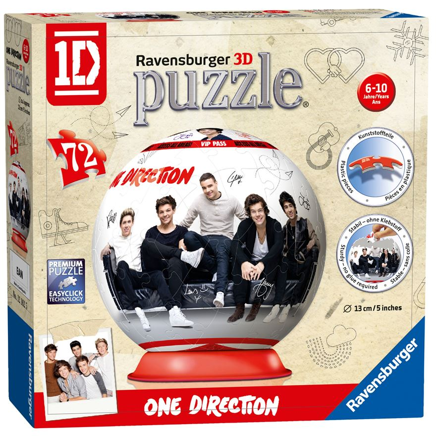 Ravensburger One Direction 72 Piece Puzzleball Jigsaw Puzzle image-0