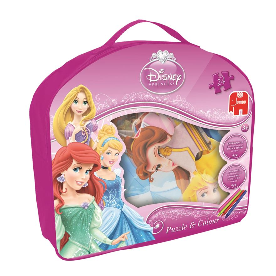 Disney Princess 24 Piece Giant Puzzle and Colour Jigsaw image-0