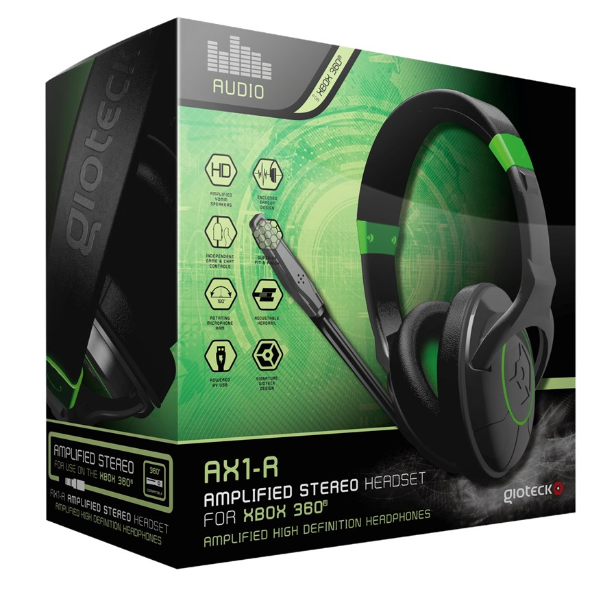 Gioteck Xbox 360 AX1-R Chat/Gaming Headset X360