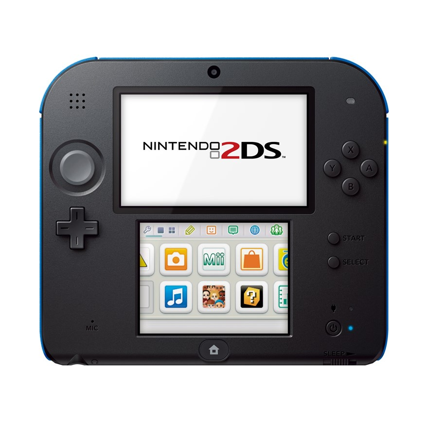 Nintendo 2DS Black and Blue image-2