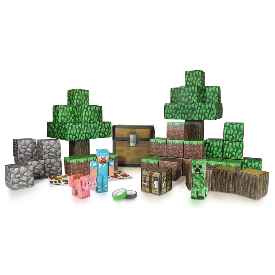 Minecraft Paper Craft Overworld Set image-1