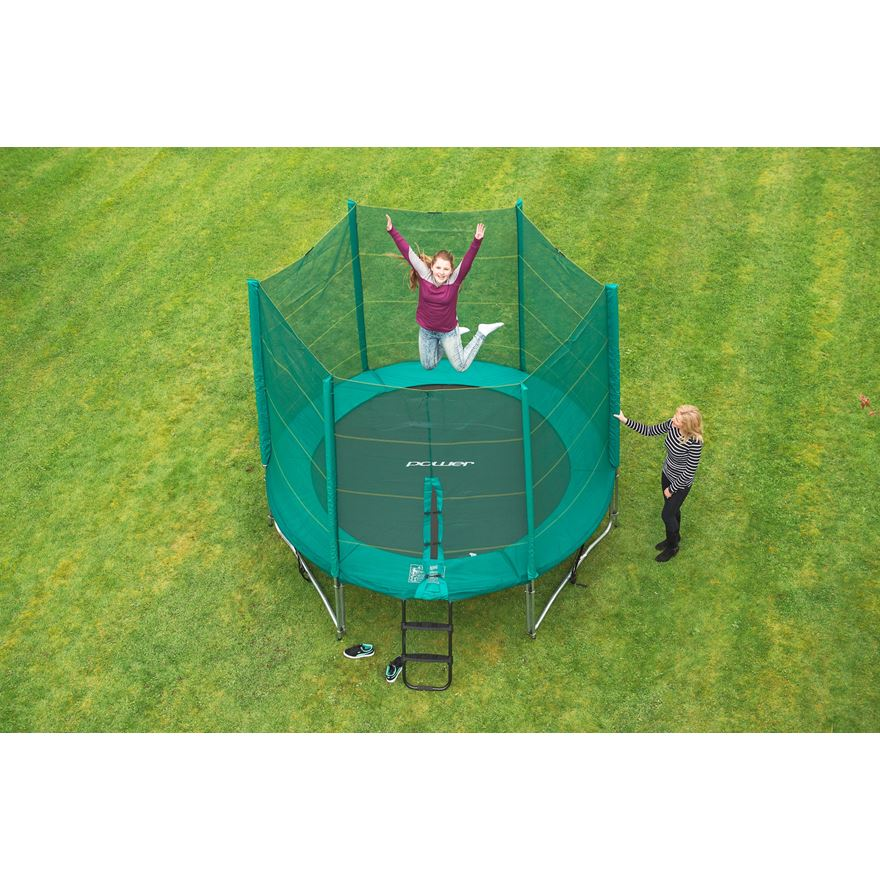10ft Trampoline and Enclosure image-0