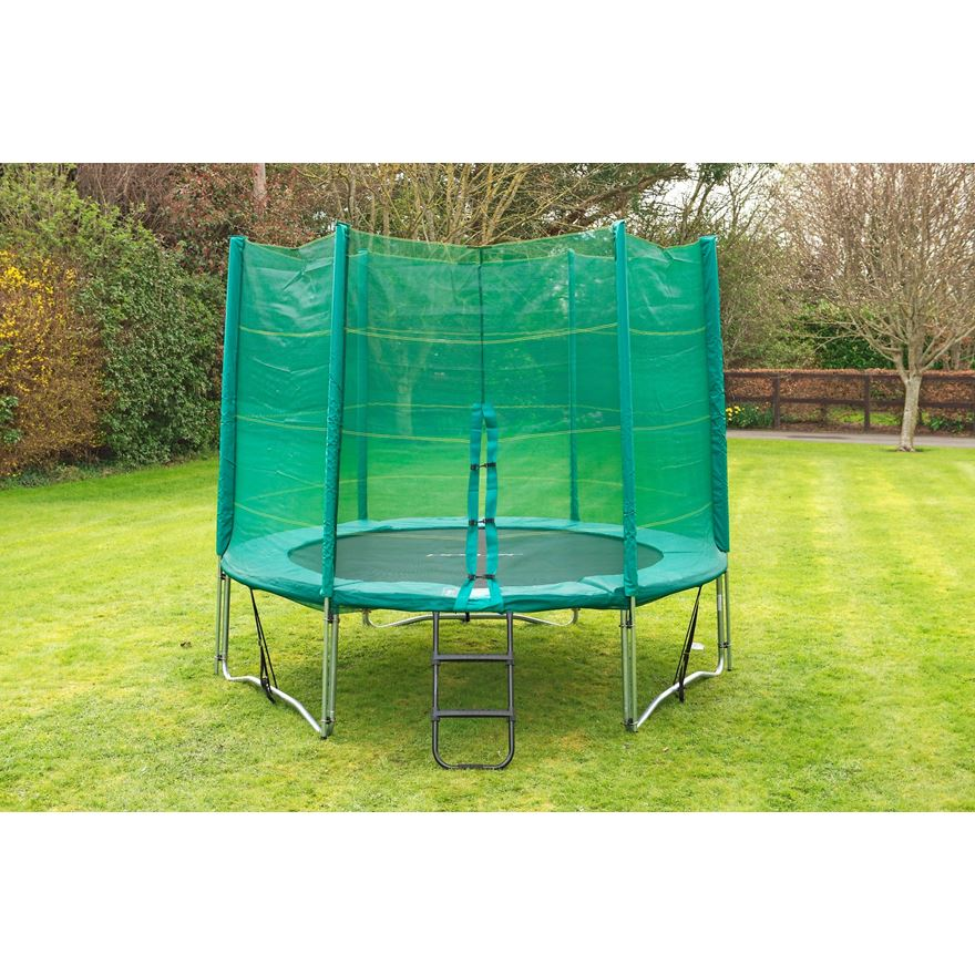 10ft Trampoline and Enclosure image-1