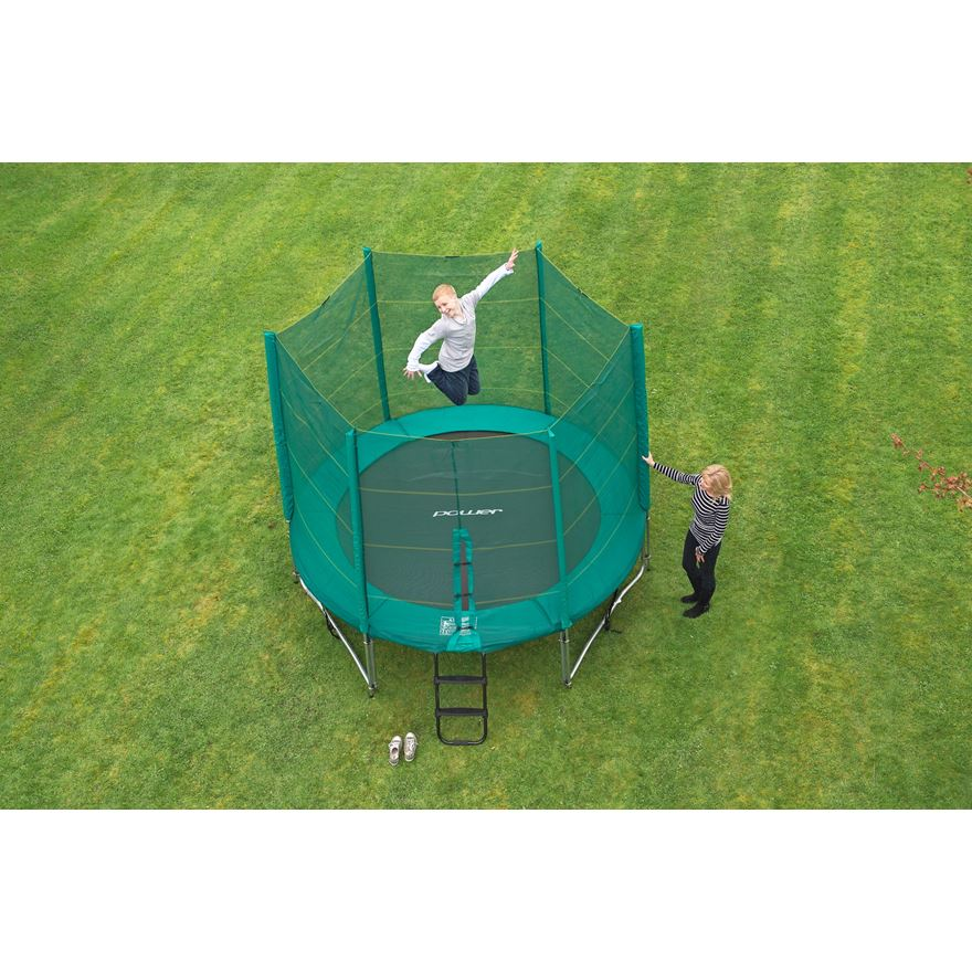 10ft Trampoline and Enclosure image-2