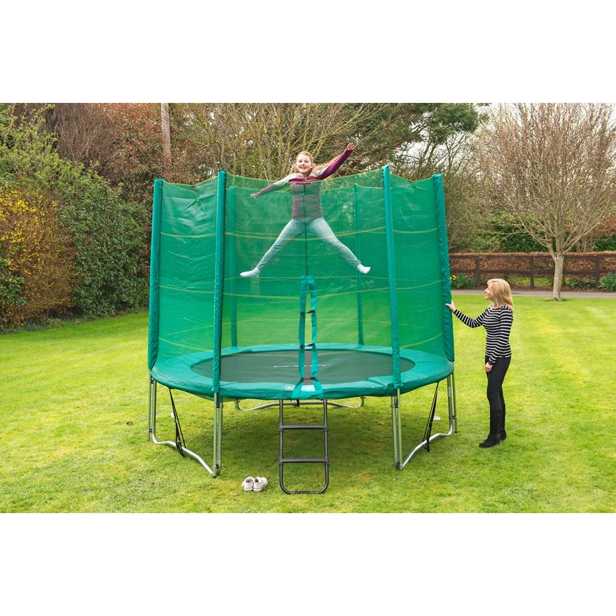 10ft Trampoline and Enclosure image-3