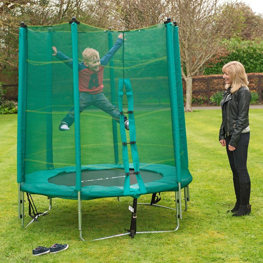 6ft Trampoline and Enclosure image-0