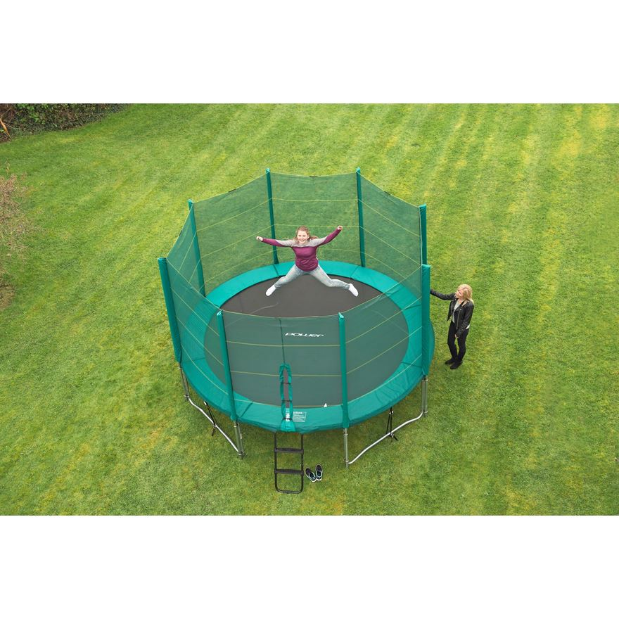 13ft Trampoline and Enclosure image-0