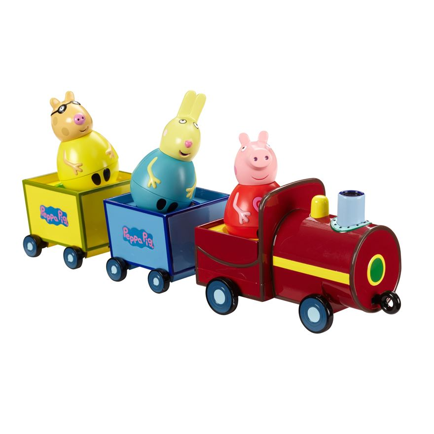 Peppa Pig Weebles Pull Along Wobbly Train image-0