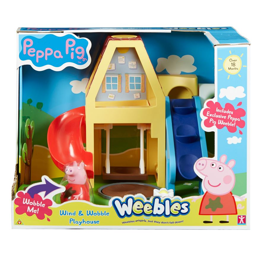 Peppa Pig Weebles Wind and Wobble Playhouse image-0