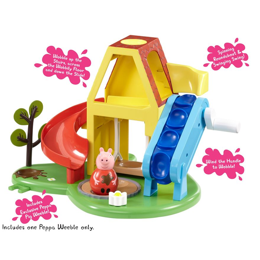 Peppa Pig Weebles Wind and Wobble Playhouse image-1