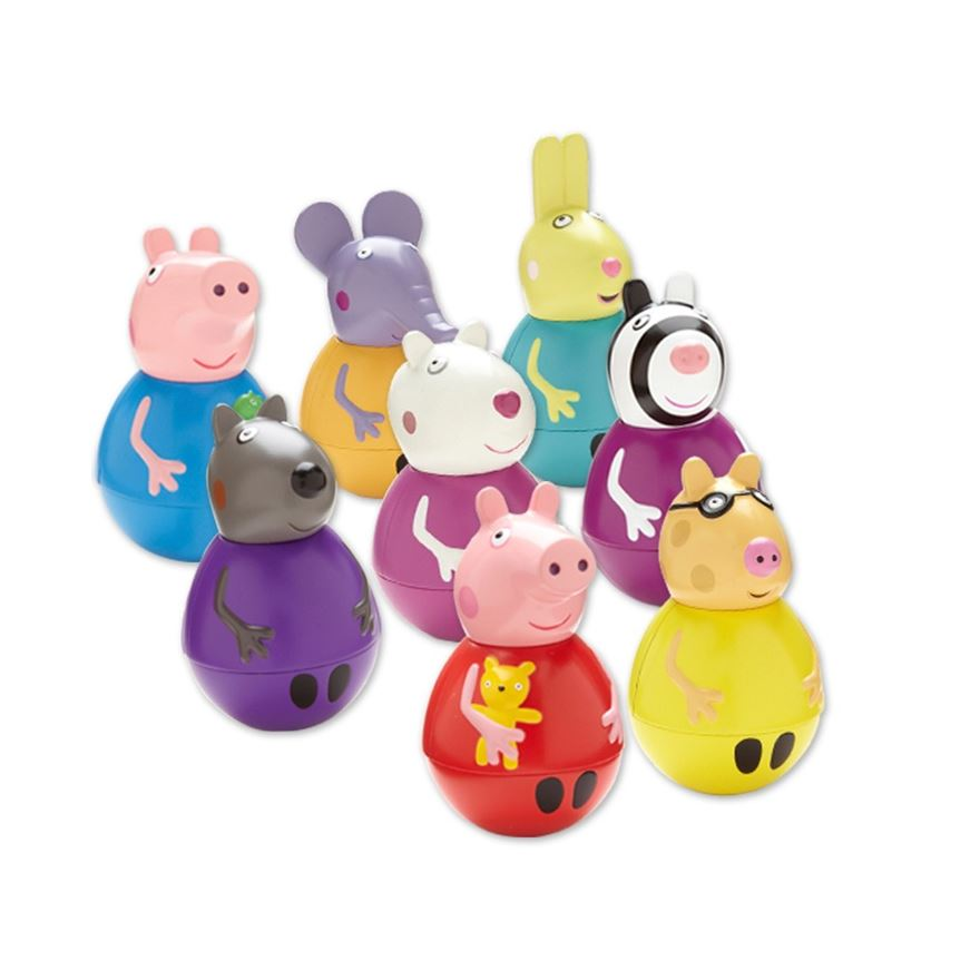 Peppa Pig Weebles Wobbly Figure and Base image-0