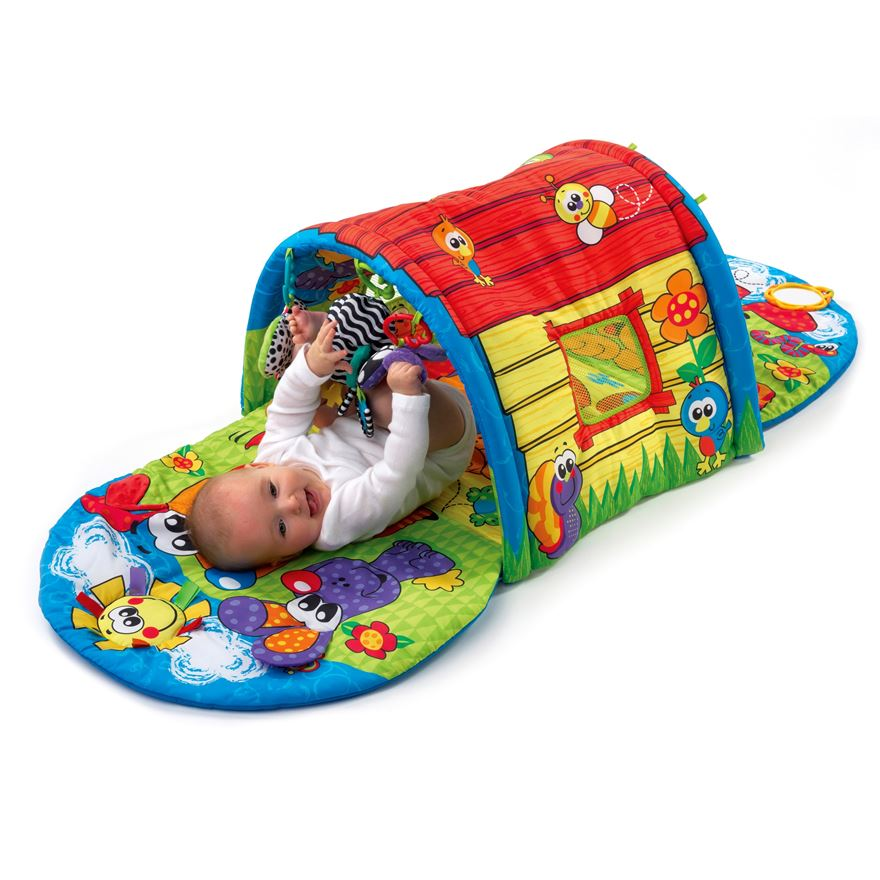 Playgro Puppy Playtime Tunnel Gym image-0
