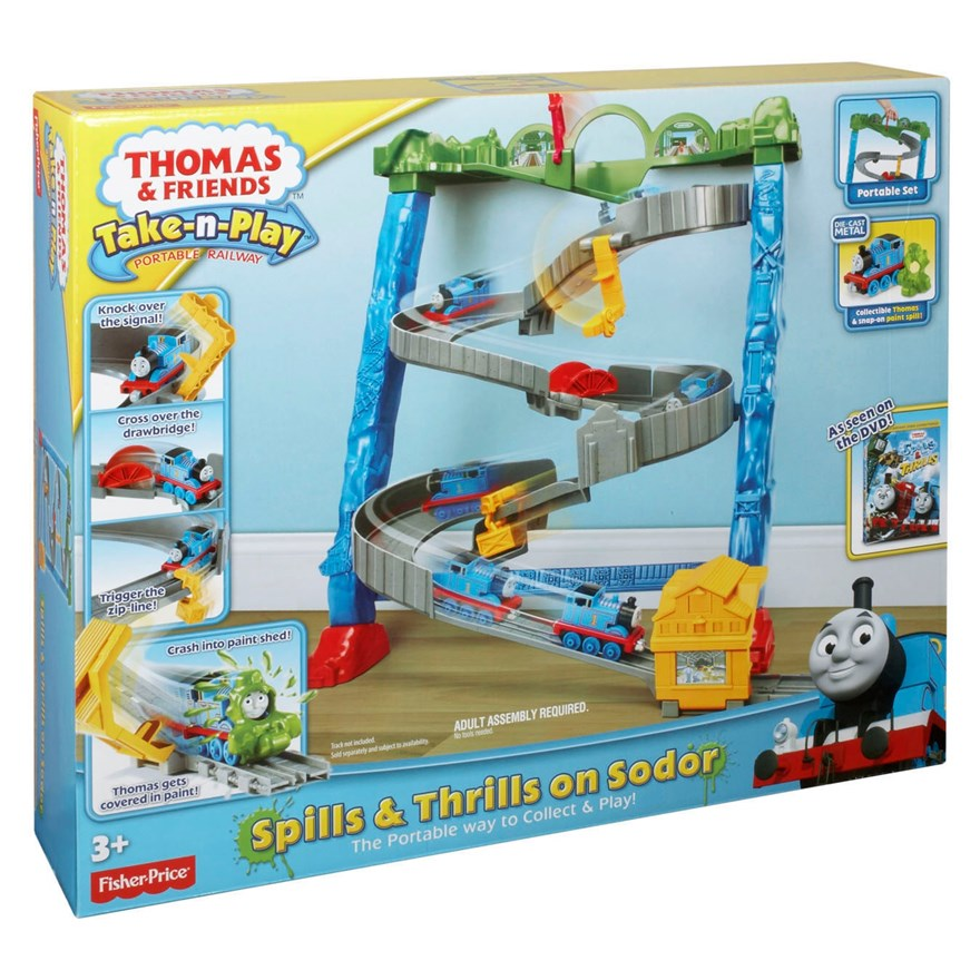 Thomas Take and Play Spills & Thrills on Sodor Set image-1