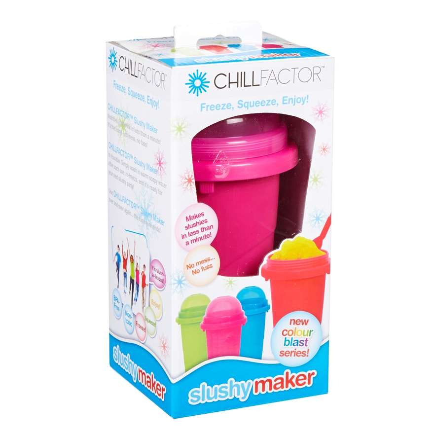Chill Factor Squeeze Cup Slushy Maker Pink image-4