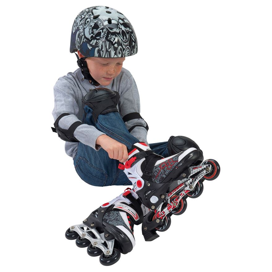 Blindside Inline Skate 4-7 (UK) Red/White image-0