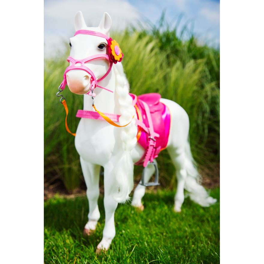 Our Generation White Hair Play Horse 50cm image-0
