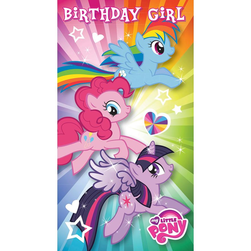 My Little Pony Birthday Girl Card