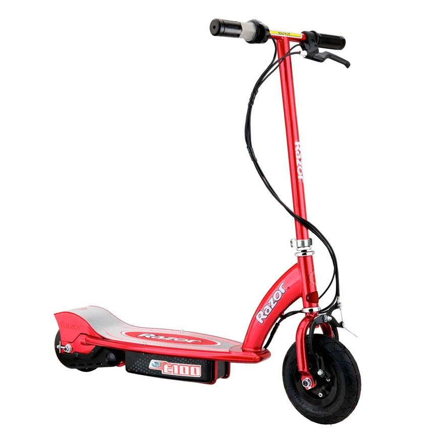 Razor E100 Electric Scooter Red image-0