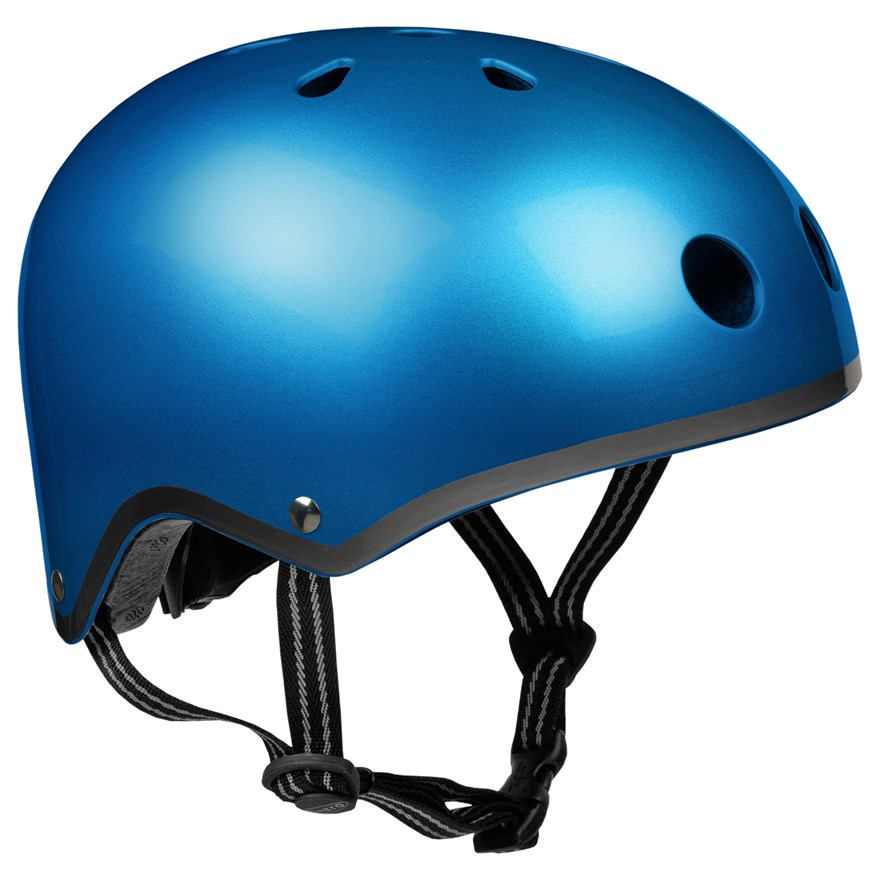 Micro Helmet Metallic Dark Blue Medium