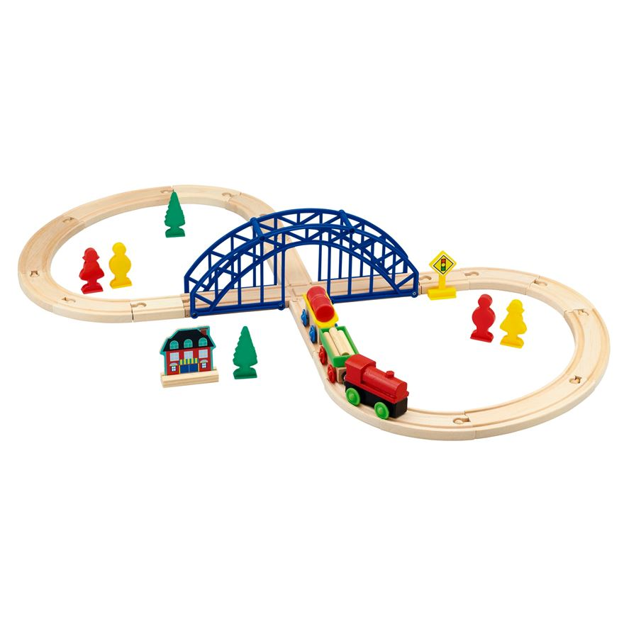 Wooden Train Set 35 piece image-0