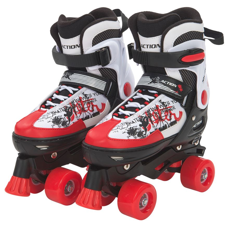 Blindside Quad Skate 4-7 (UK) Red/White image-0