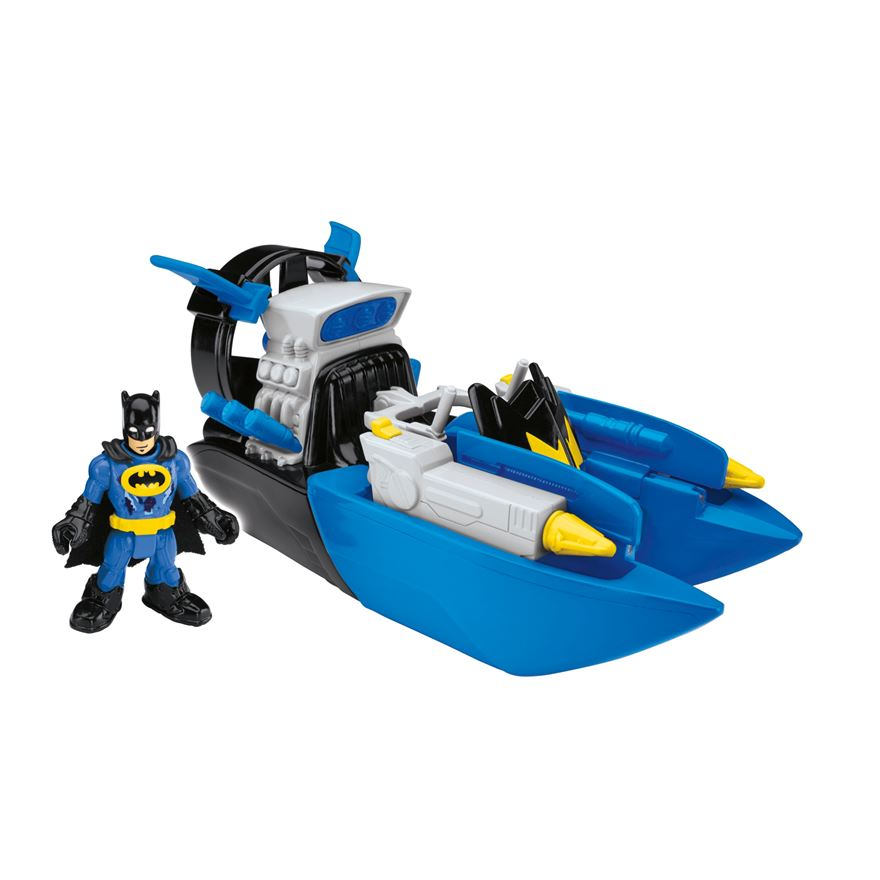 Imaginext DC Super Friends Bat Boat and Batman Figure image-0