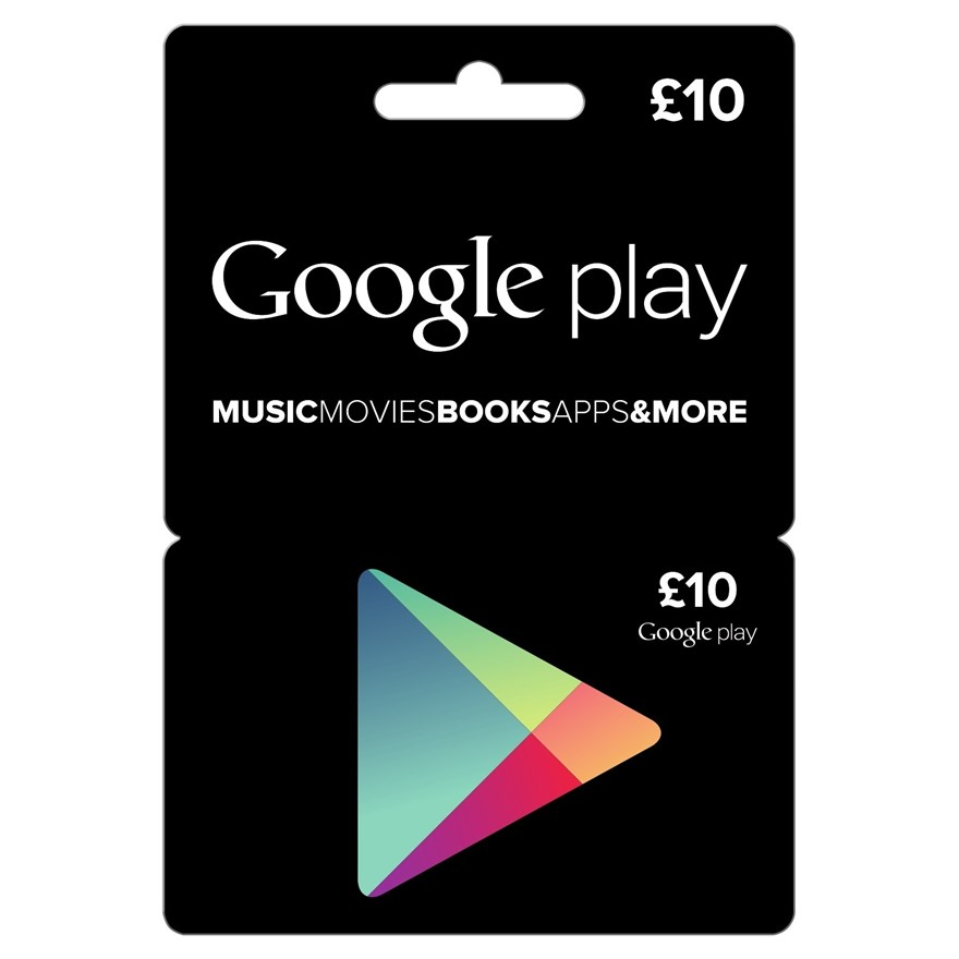 £10 Google Play Card