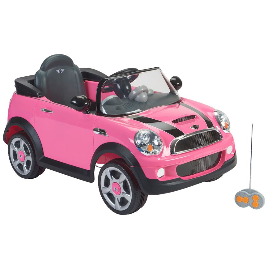 Pink Mini Cooper 6V Ride on with Remote Control image-0