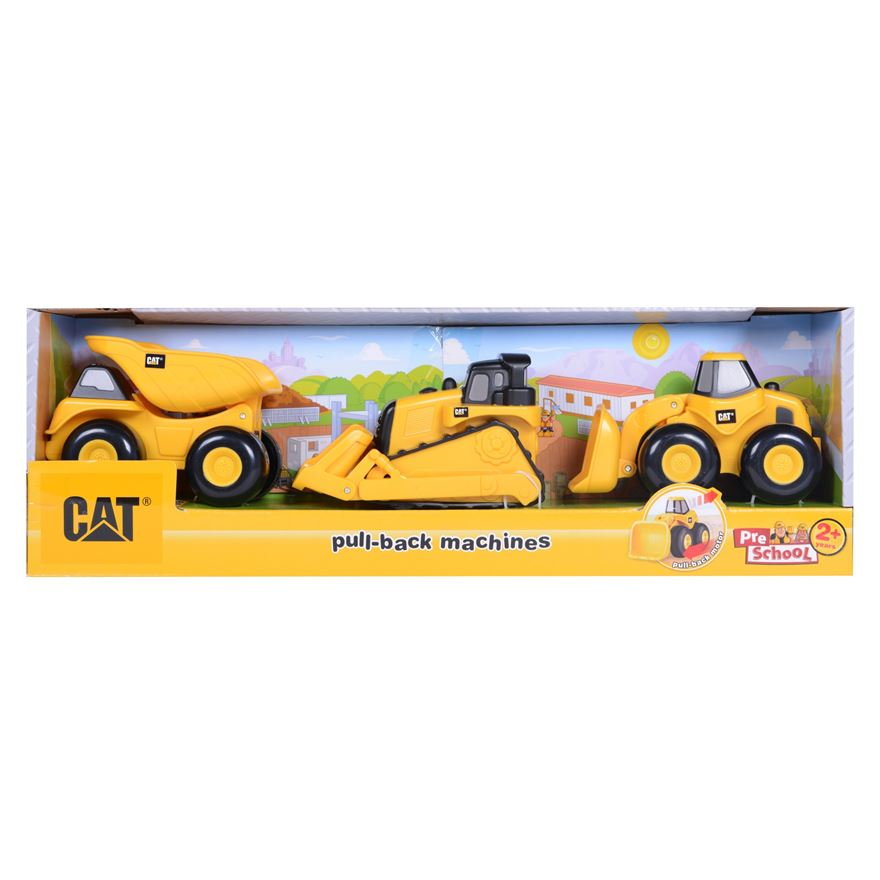 CAT Pull-Back Machines - 3 Pack image-0