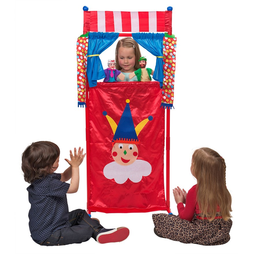 Theatre Playset with 4 puppets image-0