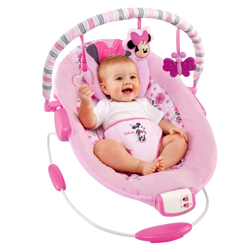 Disney Baby Minnie Mouse Precious Petals™ Bouncer image-0