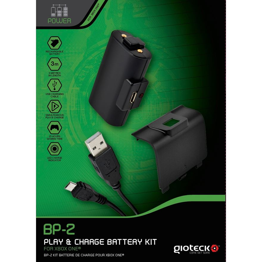 Gioteck BP-2 Play and Charge Kit Xbox One image-0