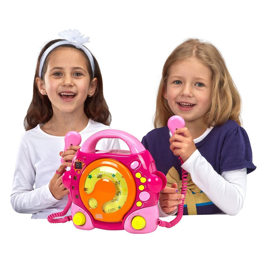 Childrens Sing Along CD Player - Pink image-0