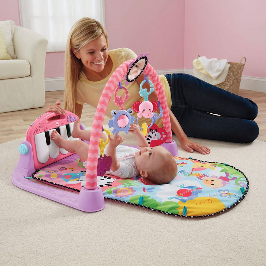 Fisher-Price Kick & Play Piano Gym Pink image-0