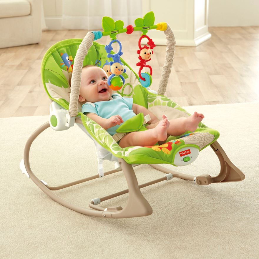 Fisher-Price Rainforest Friends  Infant-to-Toddler Rocker image-0