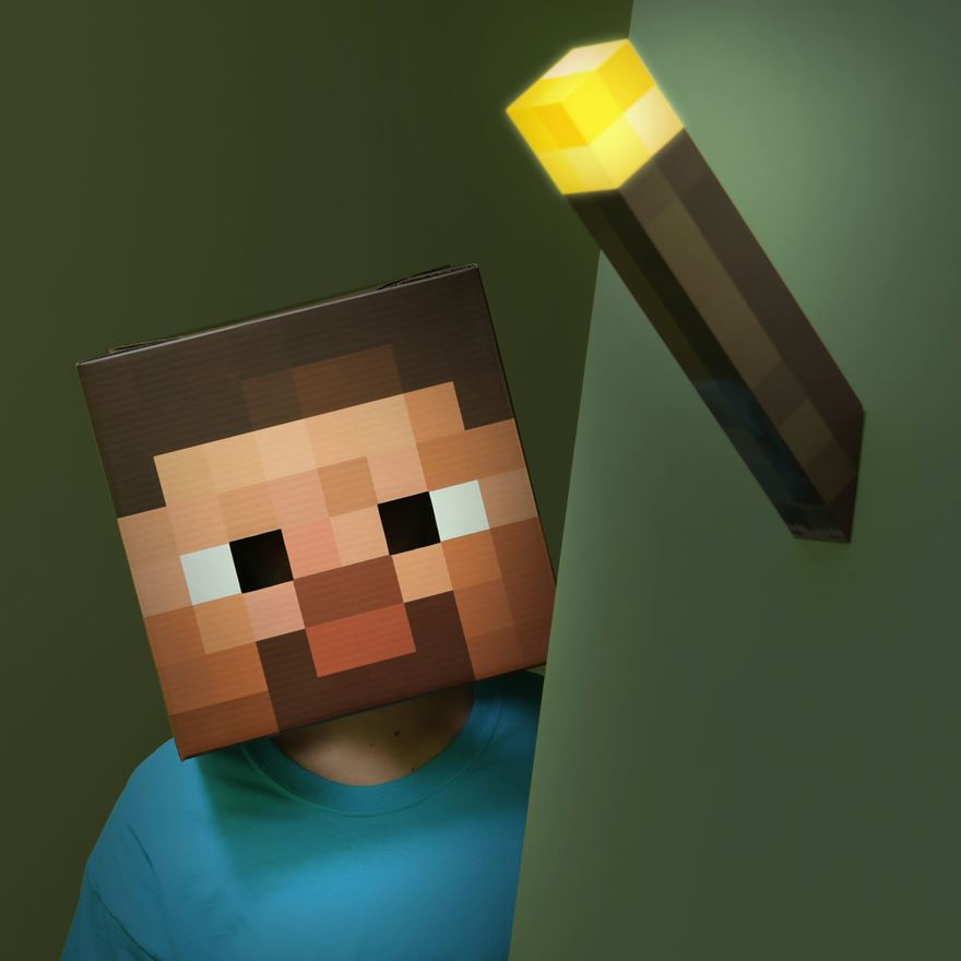 Minecraft Light-Up Wall Torch image-0