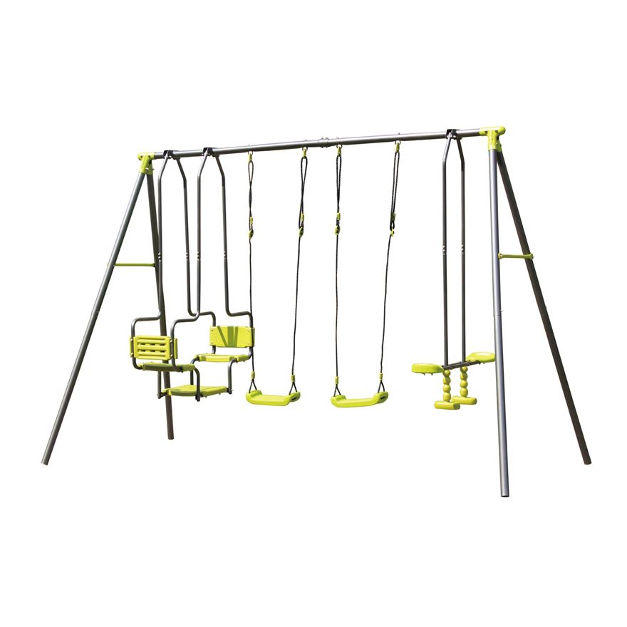 4 Unit Metal Swing Set image-0