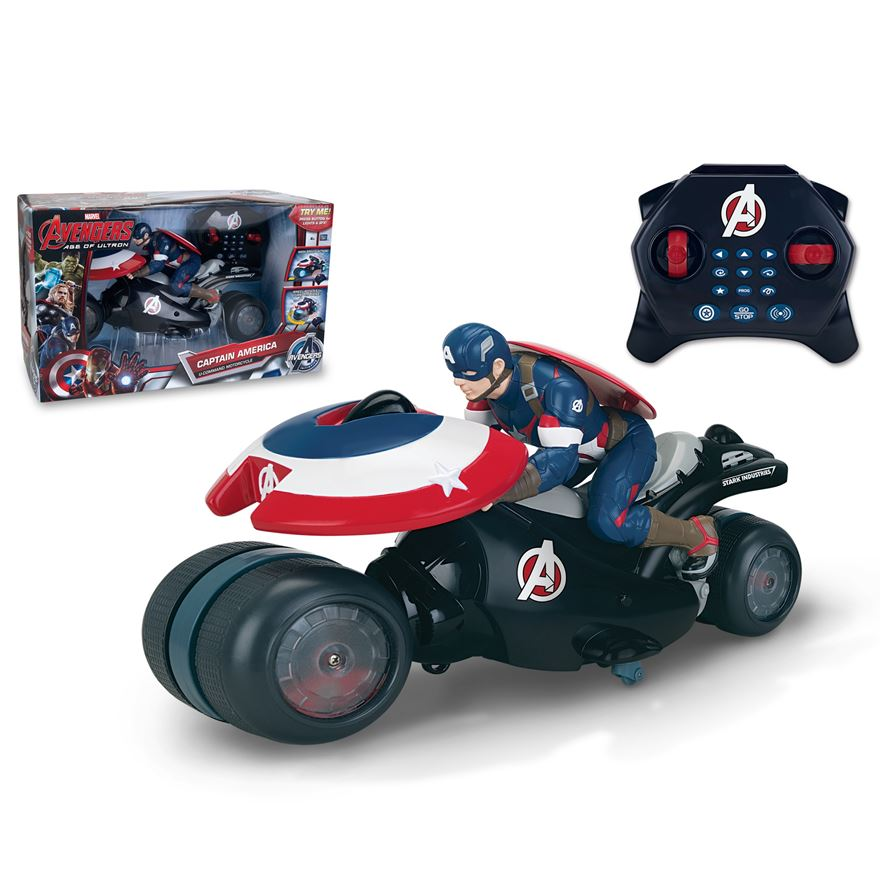 Avengers  Age Of Ultron - U-Command Captain America Motorcycle 18cm image-0
