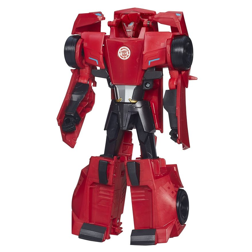 Transformers Robots in Disguise 3-Step Changers Sideswipe Figure image-0