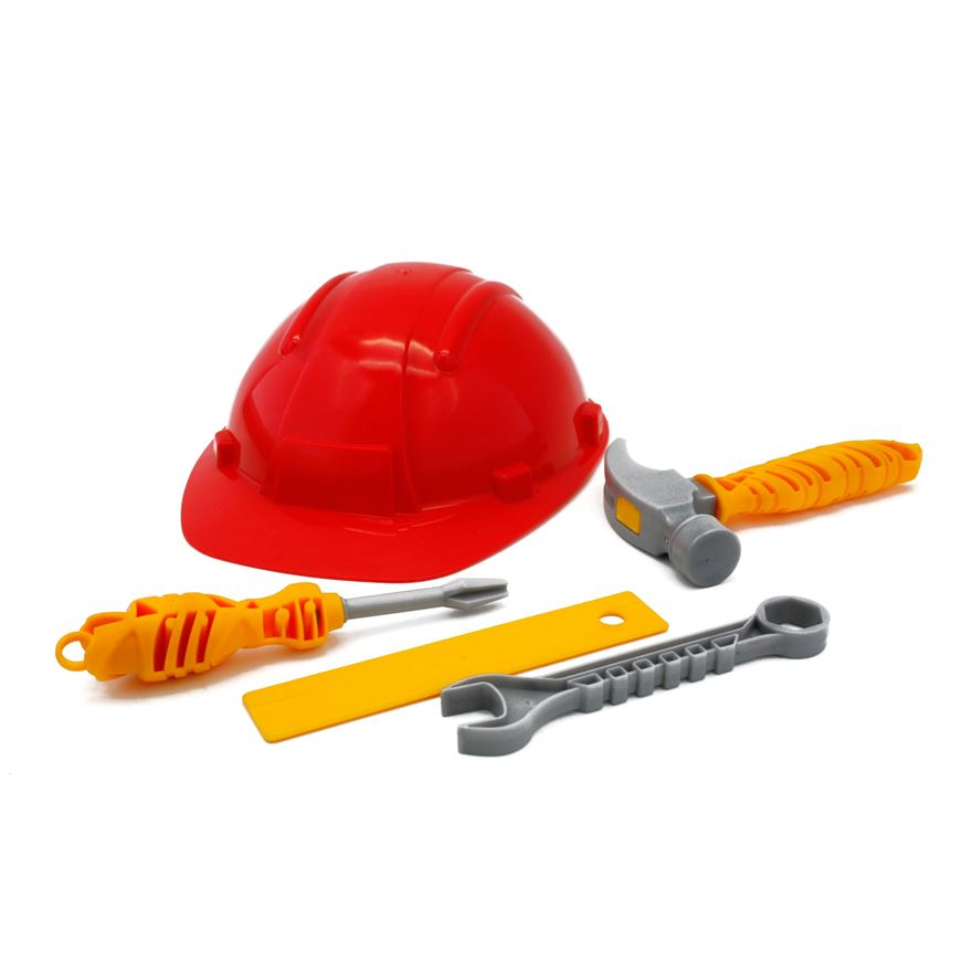 Workman Helmet with Tools image-0